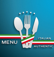 Menu Italian vector image