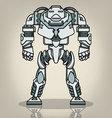 Super War Robot vector image vector image