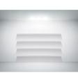 empty shelf on white wall vector image