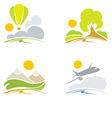 collection signs - nature and sky vector image vector image