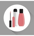 Make up design cosmetic icon skin care concept vector image