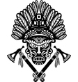American Indian mask with headdress of feathers vector image