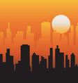 evening sky vector image