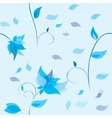 Floral background with flowers vector image