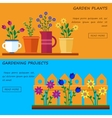 Flower shop Hello spring and summer vector image