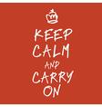 Keep calm handwritings vector image