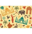 Seamless background on a theme of India vector image
