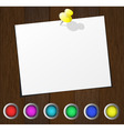 wood buttons vector image
