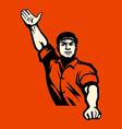 Communist worker vector image vector image
