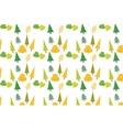 Autumn foliage concept pattern vector image