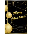 black and gold card for christmas vector image vector image