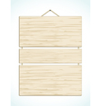 wood panel sign vector image vector image