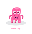 text with funny monster vector image vector image