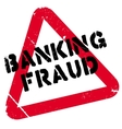 Banking Fraud rubber stamp vector image
