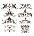 swirls element decorative vintage collection vector image