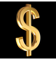 Dollar sign on black vector image vector image