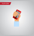 isolated holding flat icon cellphone vector image