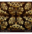 seamless background medieval ornament gold vector image