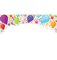 Confetti party banner vector image vector image