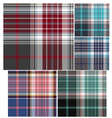 check fabric pattern vector image vector image