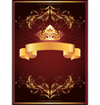 Luxurious golden ornament and crown vector image