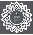 Muslim abstract greeting card vector image