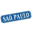 Sao Paulo blue square grunge retro style sign vector image