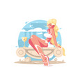 aphrodite is goddess of love vector image