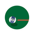 billiard game shot emblem sport graphic vector image