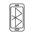 bluethoothsmartphone communication line vector image