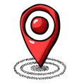 cartoon image of location icon pointer symbol vector image