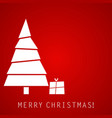 christmas tree with gift red creative design vector image