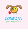 Hungry love dog logo vector image