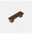 isolated seat isometric bench element can vector image