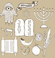 Passover set vector image