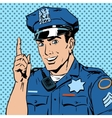 police officer warns draws attention profession vector image
