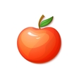 Red apple in cartoon style vector image