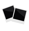 Two isolated photo in flat design style Template vector image