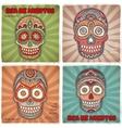 Vintage ethnic hand drawn human skull banners vector image