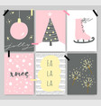 winter cute artistic cards posters letterings vector image