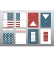 Set of Veterans Day brochure poster templates in vector image