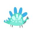 colorful cute dinosaur prehistoric animal vector image
