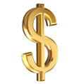Dollar sign on white vector image vector image