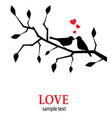 birds in love on a branch vector image vector image