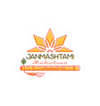 Krihna janmashtami mahotsav logo concept design vector image