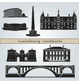 Luxembourg landmarks and monuments vector image vector image