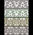 5 Set of decorative borders vintage style silver vector image