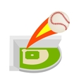 Strike ball isometric 3d icon vector image