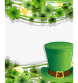 Leprechaun hat and gold coins vector image