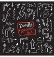 doodle style arrow set Hand drawn vector image